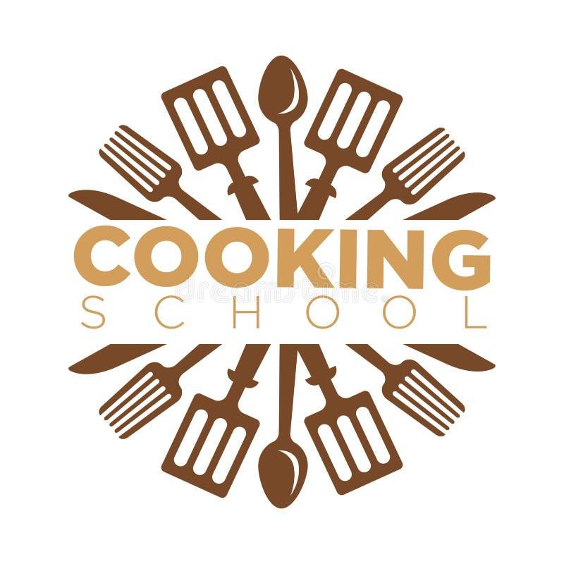 Kulinarny szkolnej klasy ikony wektorowy szablon kucbarscy kuchenni szefów kuchni naczynia ilustracji