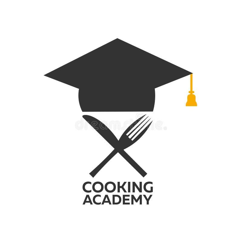 Kulinarny szkolny logo Kulinarna akademia również zwrócić corel ilustracji wektora ilustracja wektor