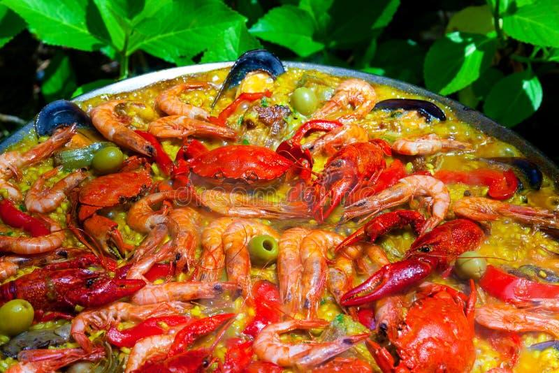 Kulinarny Tradycyjny Paella obraz royalty free