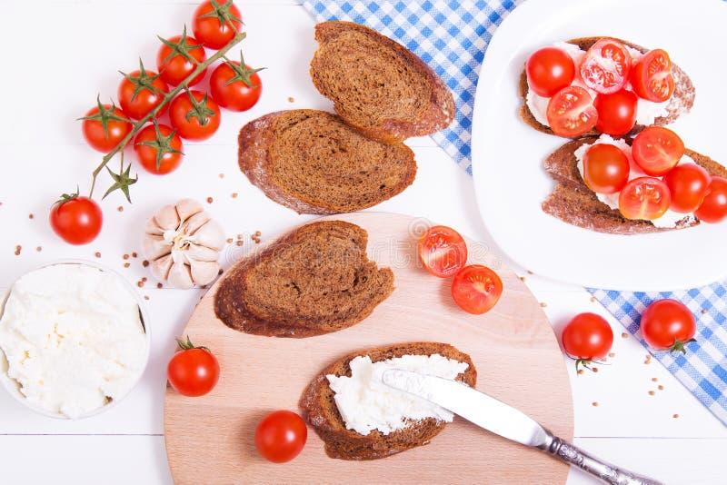 Kulinarny włoski bruschetta obrazy royalty free