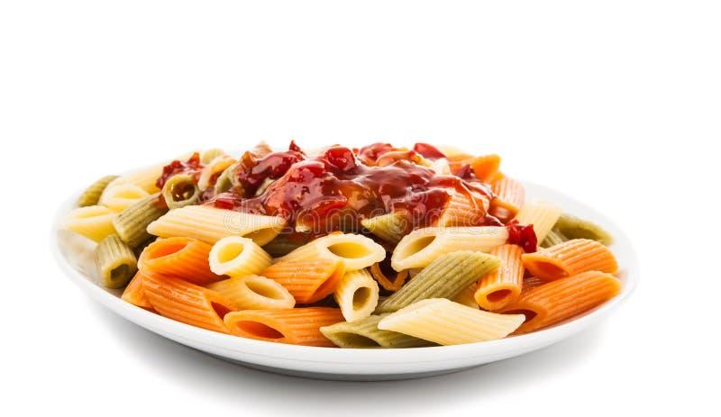 Kulinarny Włoski makaron odizolowywający obraz stock