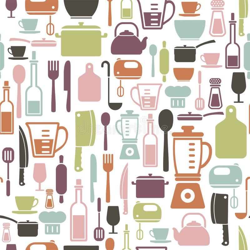 Kulinarny wzór ilustracji