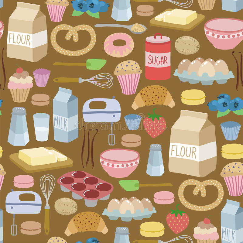 Kulinarny wzór ilustracja wektor