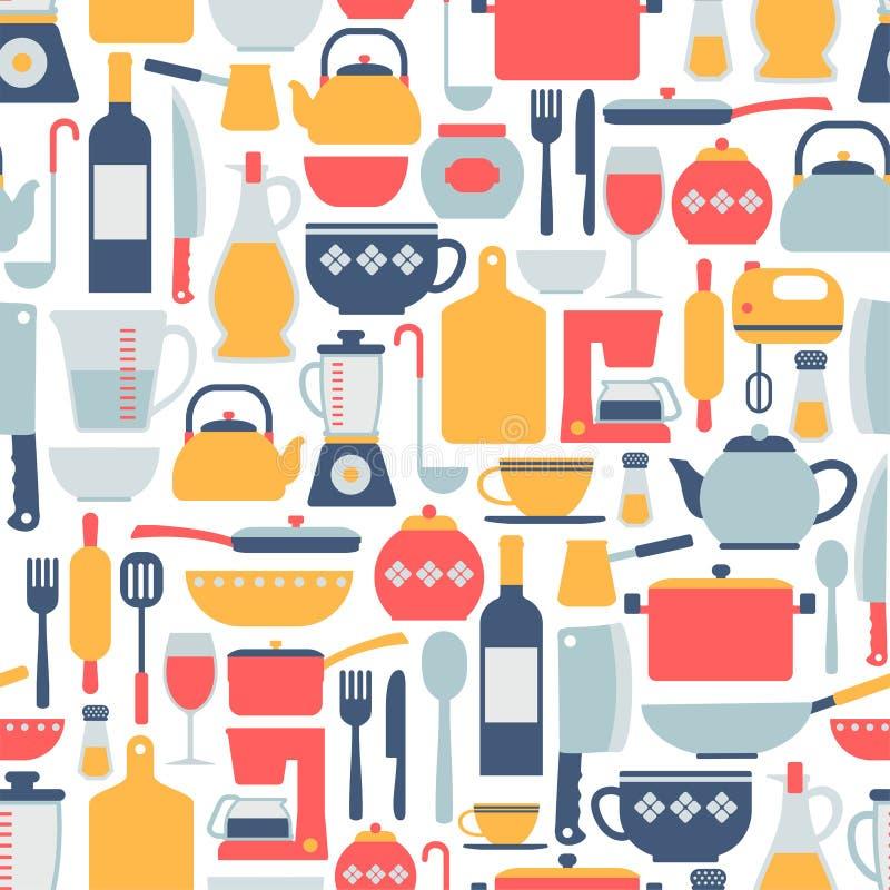 Kulinarny wzór royalty ilustracja
