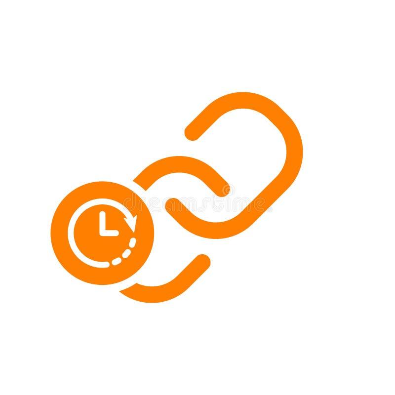 Kulisowa ikona, multimedialna ikona z zegaru znakiem Kulisowa ikona i odliczanie, ostateczny termin, rozkład, planistyczny symbol ilustracji