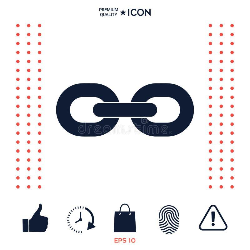 Kulisowego łańcuchu ikona royalty ilustracja