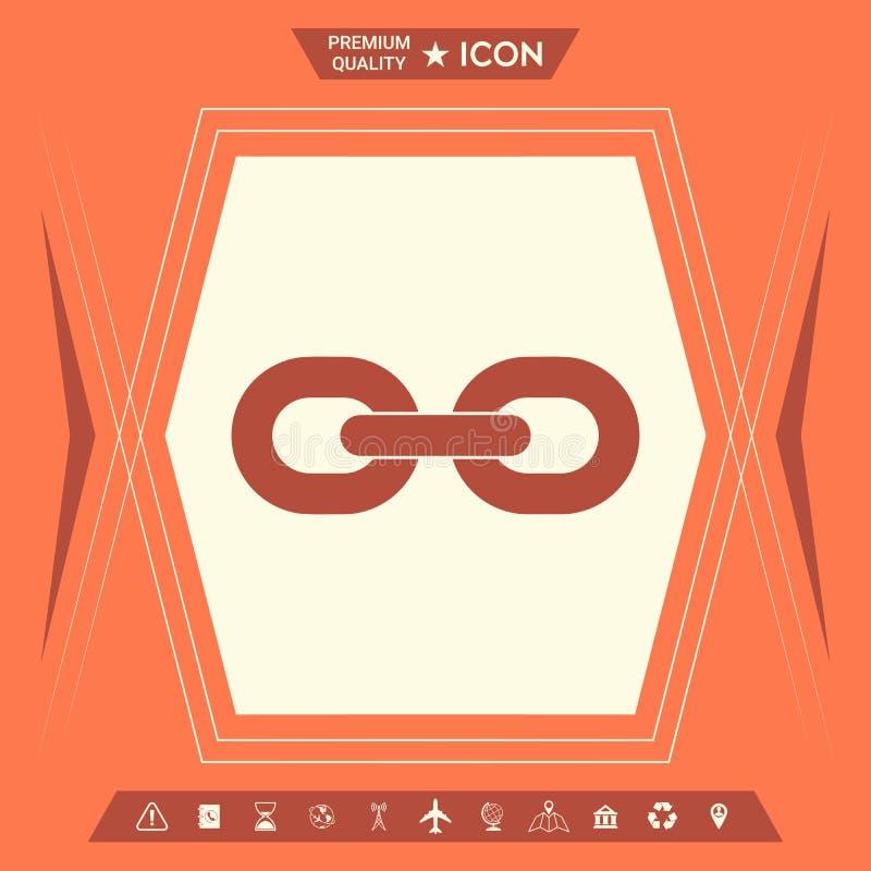Kulisowego łańcuchu ikona ilustracji