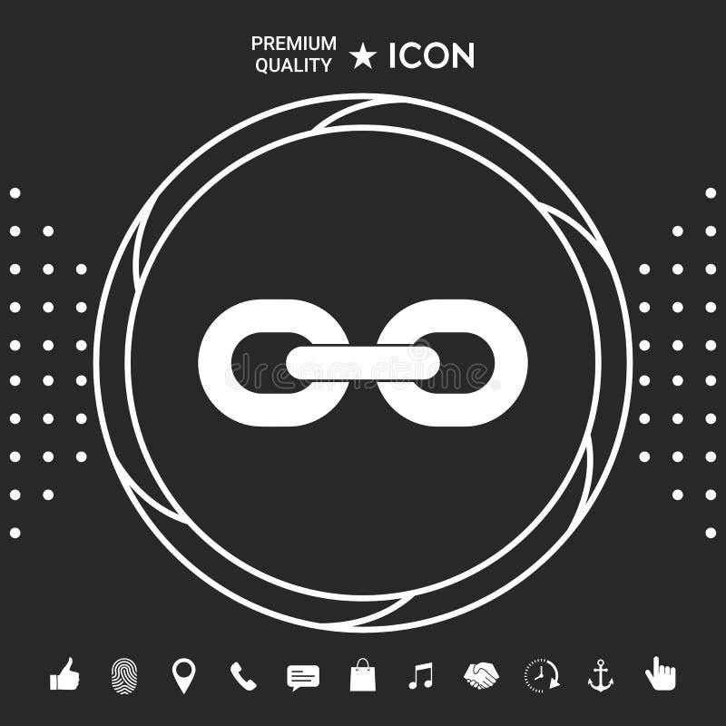 Kulisowego łańcuchu ikona Graficzni elementy dla twój designt ilustracji