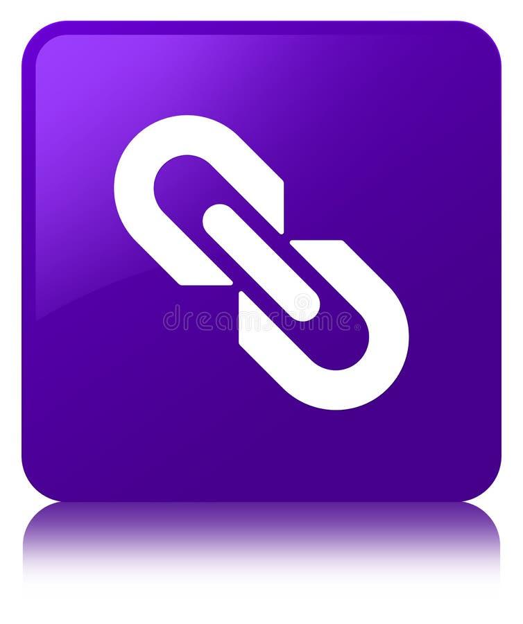 Kulisowy ikon purpur kwadrata guzik ilustracja wektor
