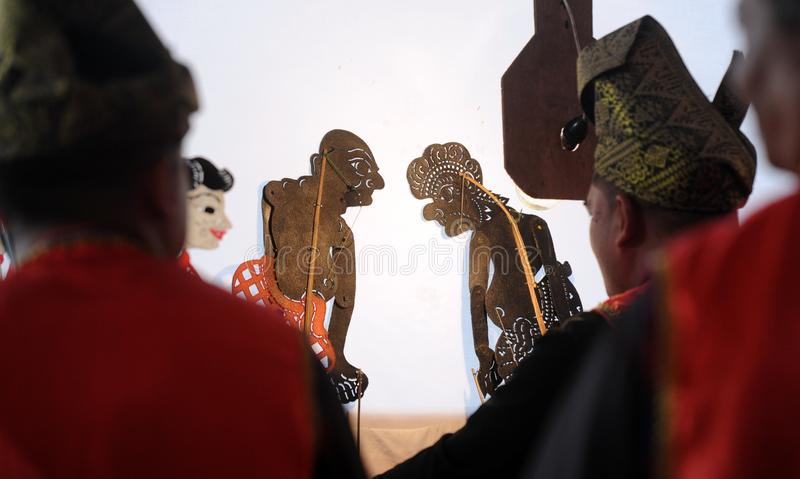 Kulit de Wayang imagens de stock royalty free