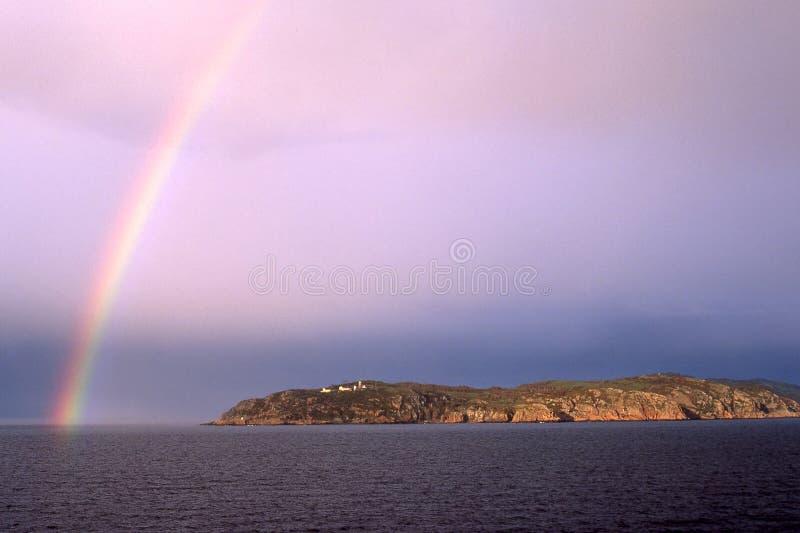 Kullaberg en regenboog royalty-vrije stock afbeeldingen
