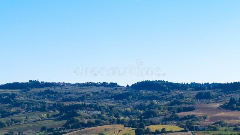 Kullar av Tuscany, Chiantiregion, Italien arkivbilder