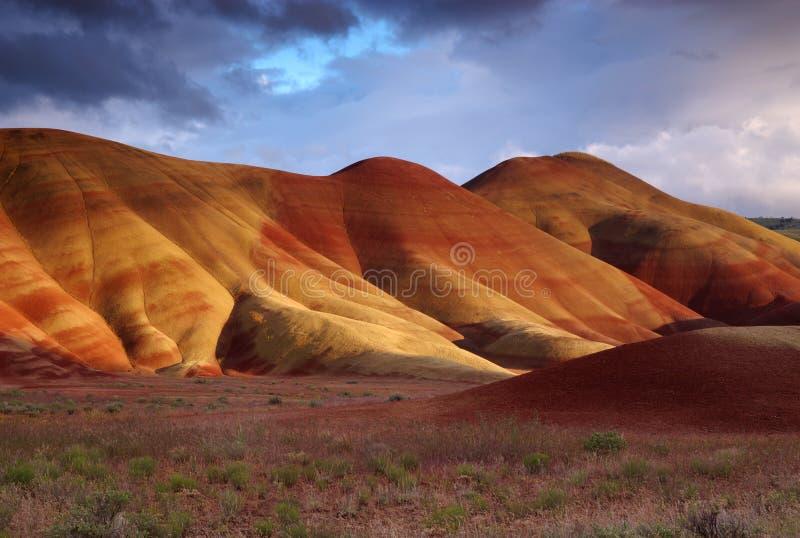 kullar målade solnedgång royaltyfria foton