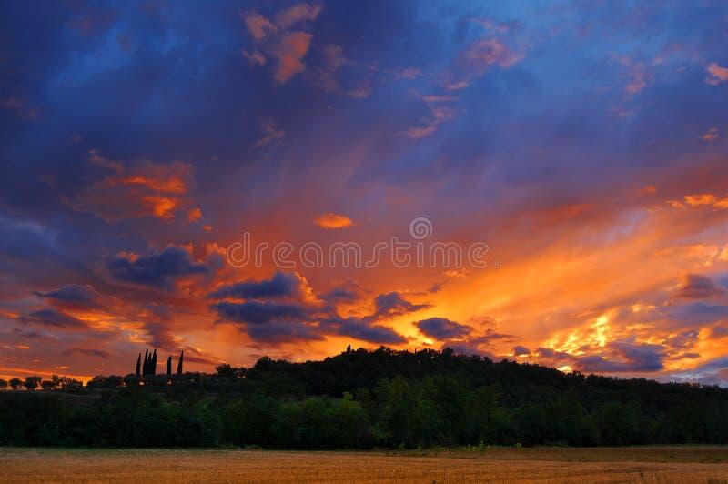 kullar över solnedgång royaltyfri fotografi