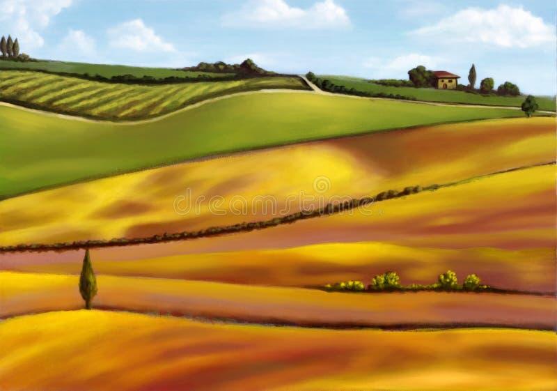 kullar tuscany royaltyfria bilder