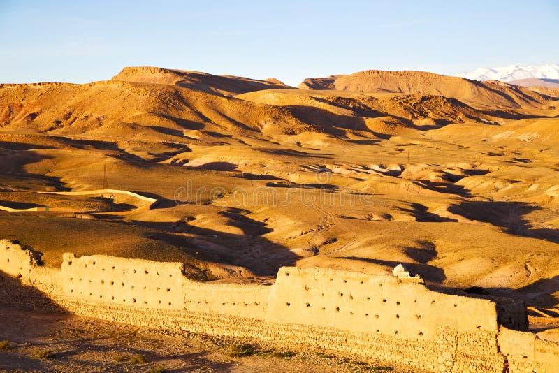 kulle africa i Marocko arkivbilder