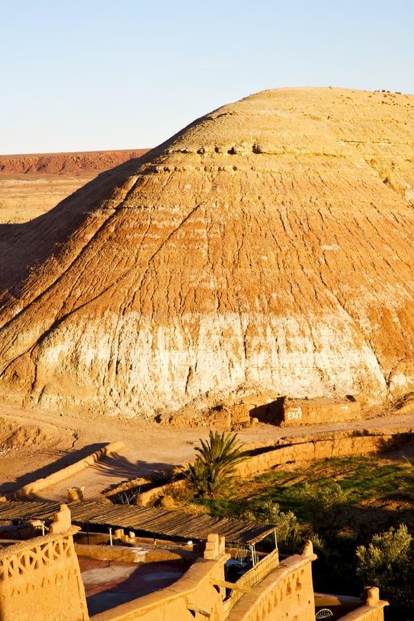 kulle africa i Marocko den historiska vilen för gammal contruction arkivbild