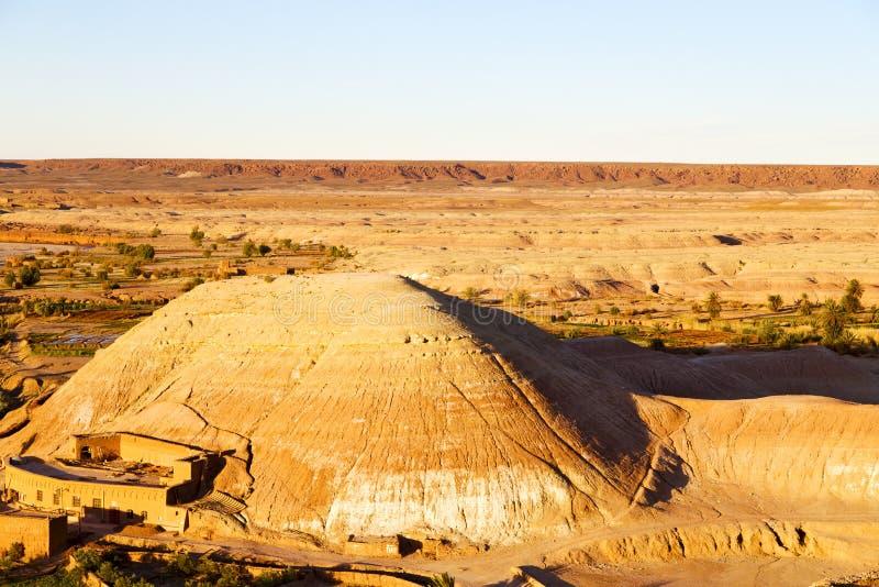 kulle africa i Marocko väggen arkivfoto