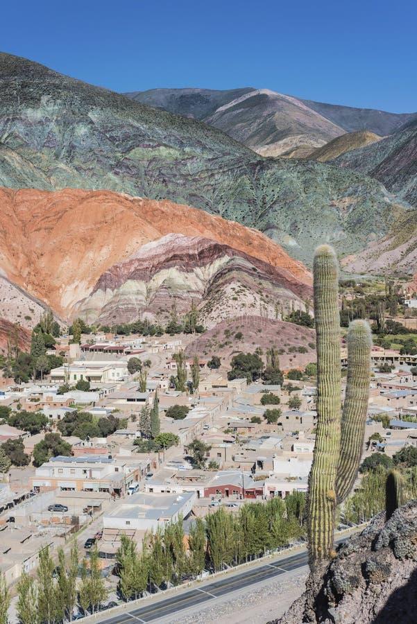 Kulle av sju färger i Jujuy, Argentina. royaltyfri foto