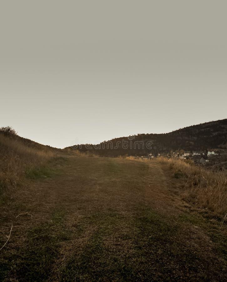Kulle nära brandtorn i Helena Montana arkivbilder