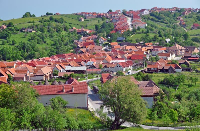 kullen roofs byn arkivbild
