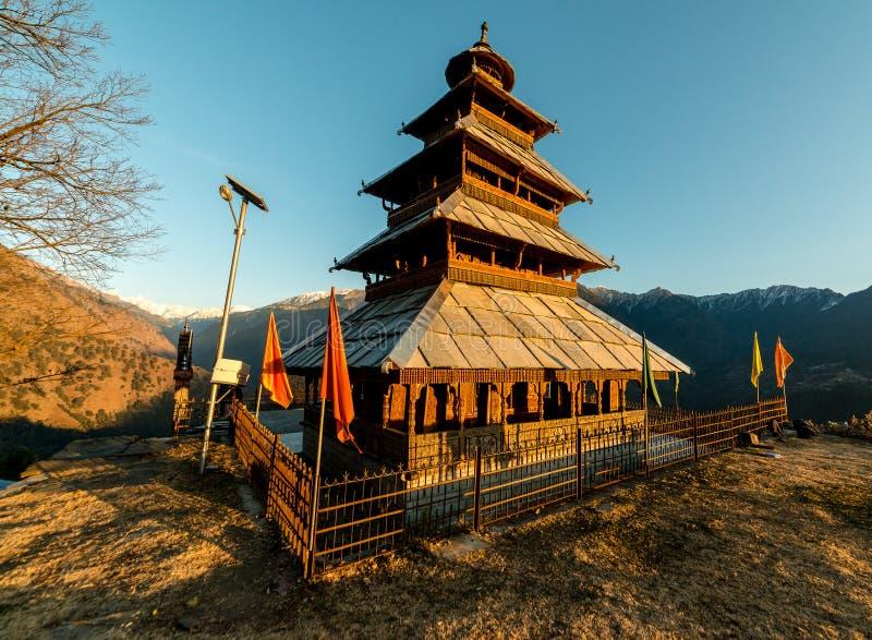 Kullu, Himachal Pradesh, India - December 07, 2018 : manu rishi temple in himachal. India royalty free stock photography