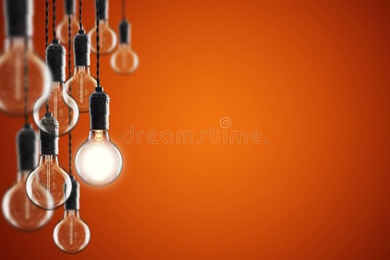 Kulor för idé- och ledarskapbegreppstappning på färgbakgrund, royaltyfri bild