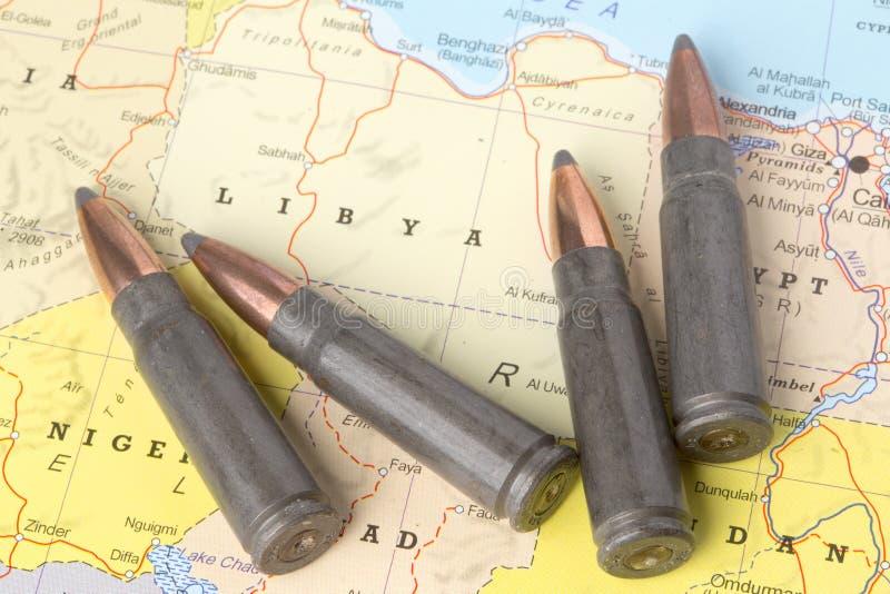Kulor på översikten av Libyen arkivbild