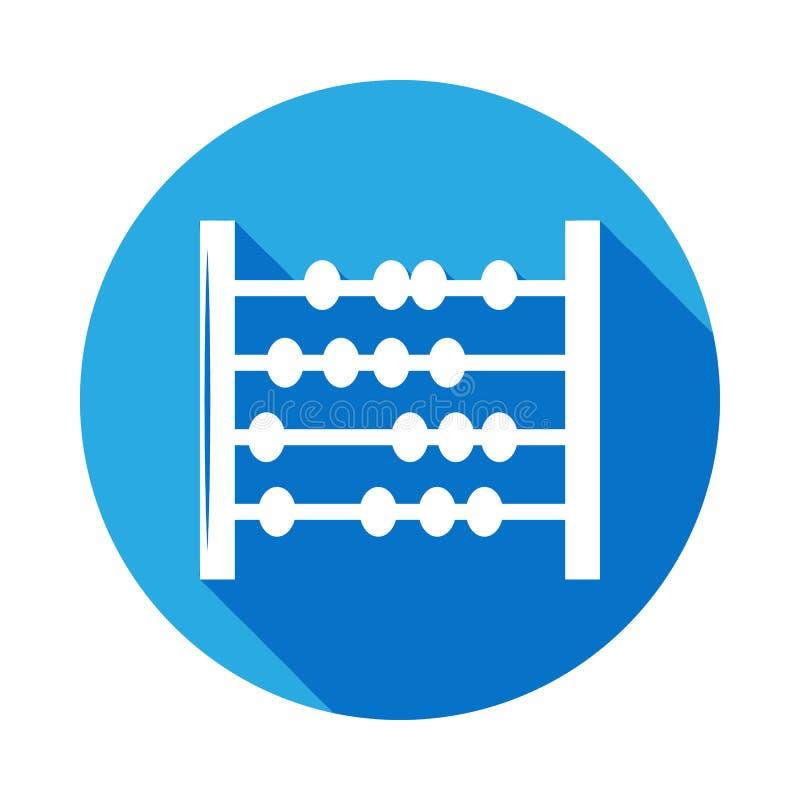 kulramsymbol med lång skugga Vektoravläggande av examensymbol med lång skugga Utbildning akademisk grad Tecken översiktssymbolcol royaltyfri illustrationer