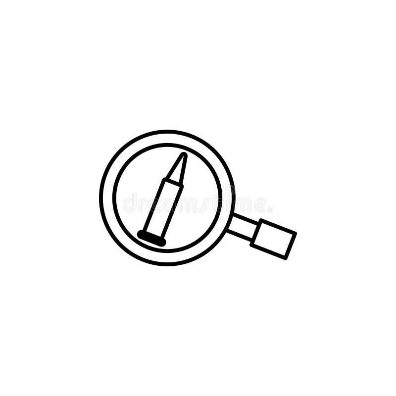 kulteckensymbol Beståndsdel av brott- och bestraffningsymbolen för mobila begrepps- och rengöringsdukapps Den tunna linjen kultec royaltyfri illustrationer