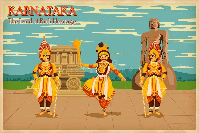 Kultur av Karnataka royaltyfri illustrationer