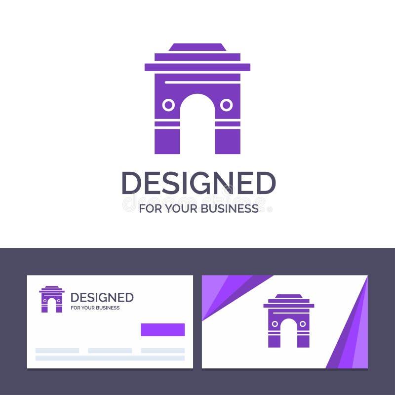 Kultur för idérik mall för affärskort som och logoär global, Hinduism, Indien, indier, Sri Lanka, tempelvektorillustration stock illustrationer