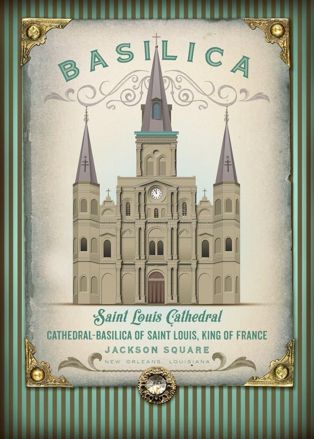 Kultur französischen Viertels Louisiana New Orleans stock abbildung