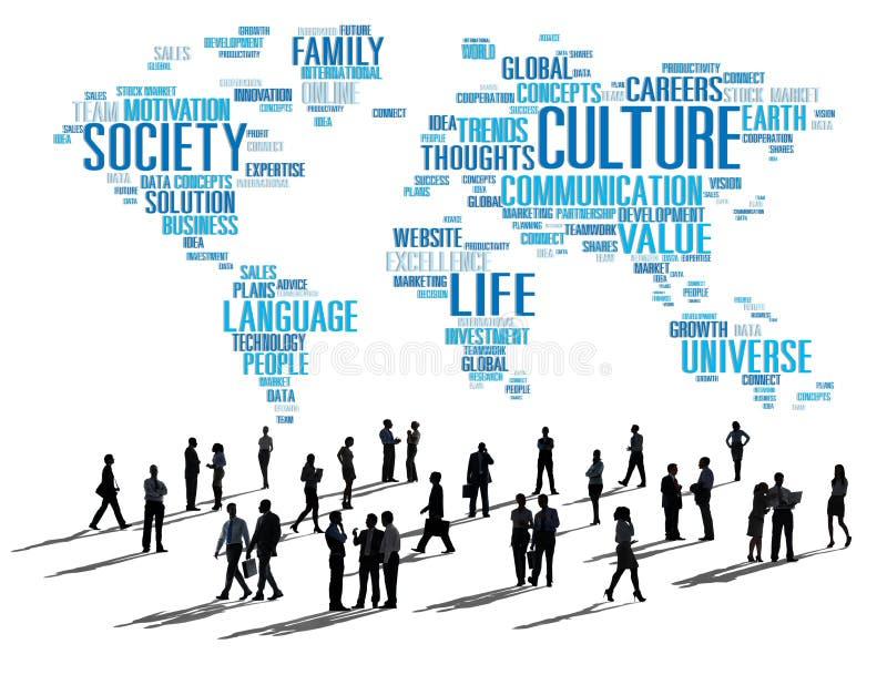 Kultur-Gemeinschaftsideologie-Gesellschafts-Prinzip-Konzept stock abbildung