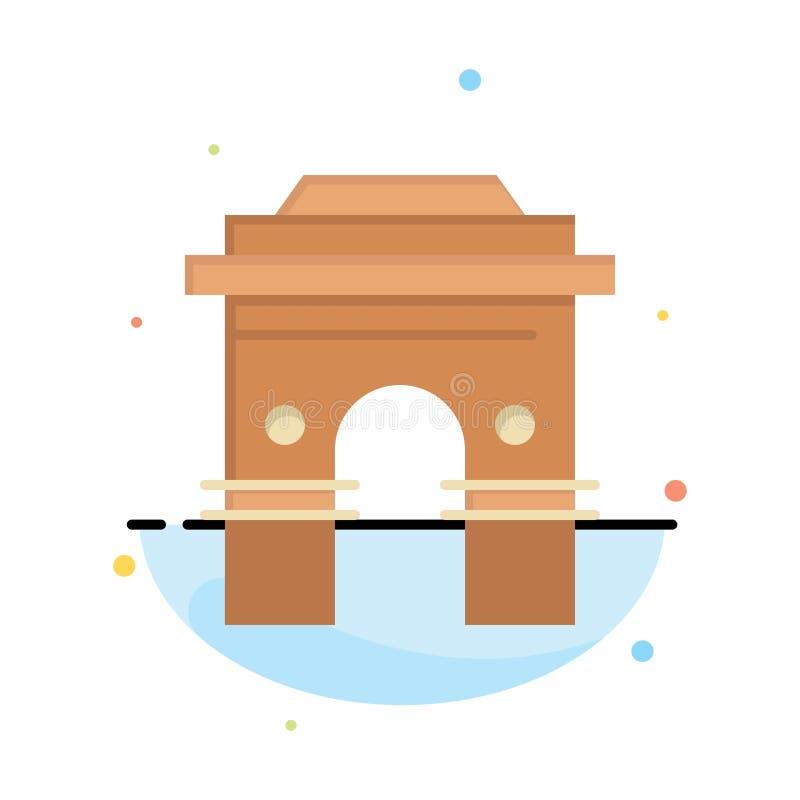 Kultur som är global, Hinduism, Indien, indier, Sri Lanka, för färgsymbol för tempel abstrakt plan mall royaltyfri illustrationer