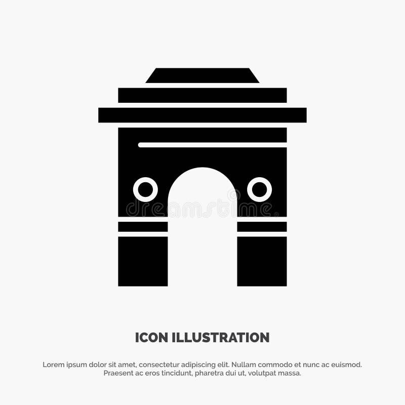Kultur som är global, Hinduism, Indien, indier, Sri Lanka, för skårasymbol för tempel fast vektor vektor illustrationer