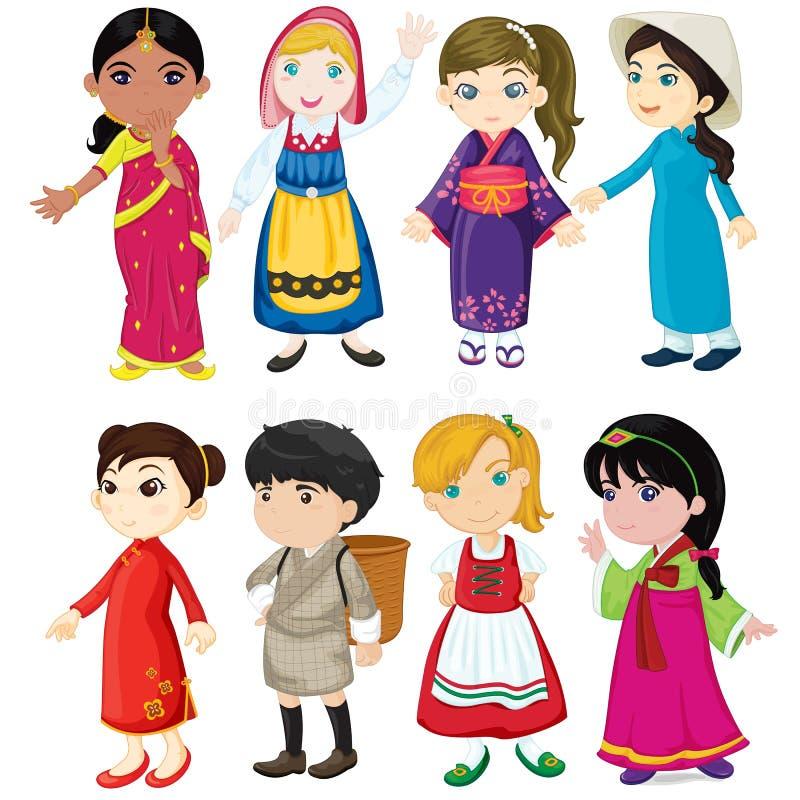 kultur som visar kvinnor royaltyfri illustrationer