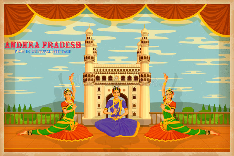 Kultur von Andhra Pradesh vektor abbildung