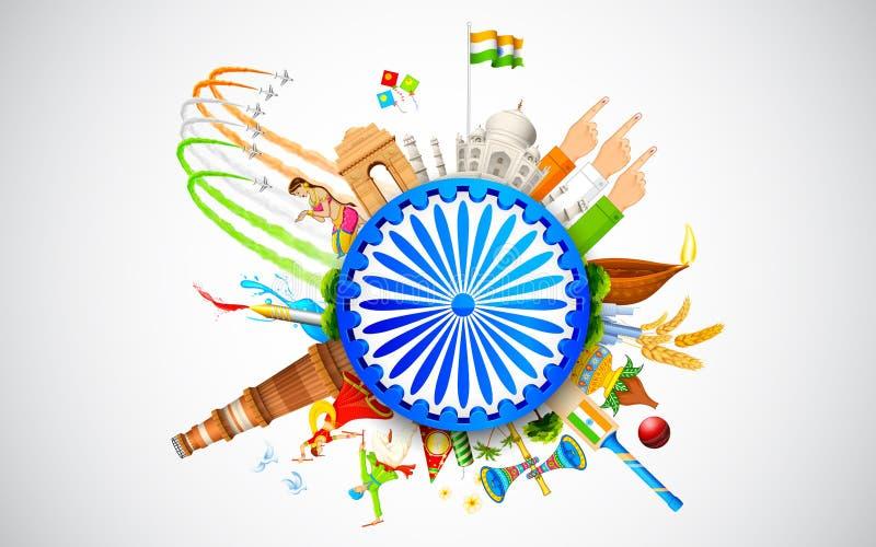 Kultur von Indien lizenzfreie abbildung