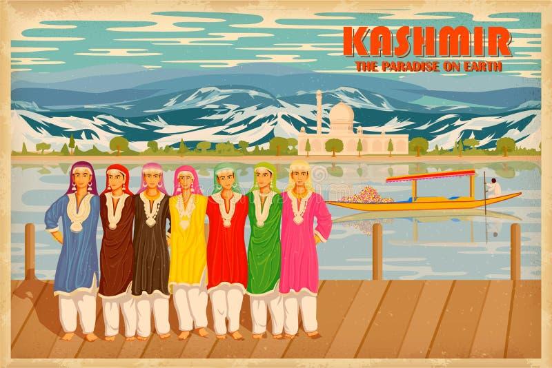 Kultur von Kaschmir lizenzfreie abbildung
