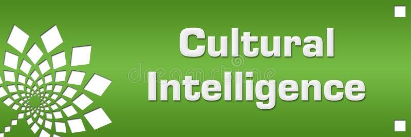 Kulturalnej inteligencji zieleni Kwiecista lewica royalty ilustracja
