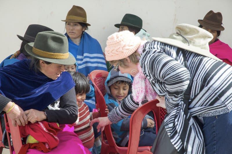 Kulturalny diverstiy w Riobamba, Ekwador zdjęcia royalty free