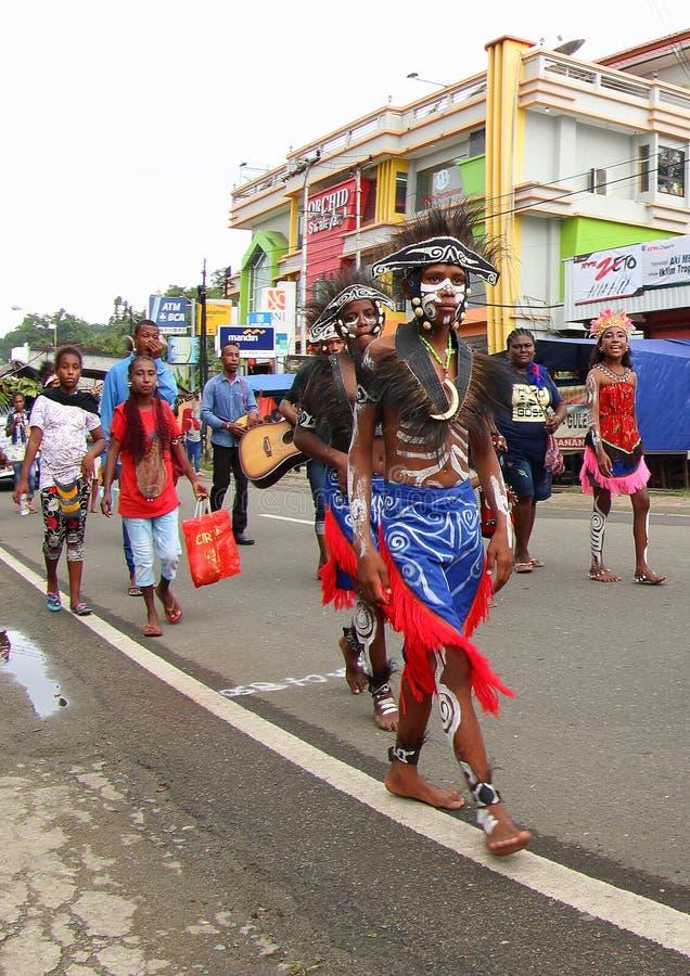 Kulturalny festiwal 2017, Zachodni Papua zdjęcia royalty free