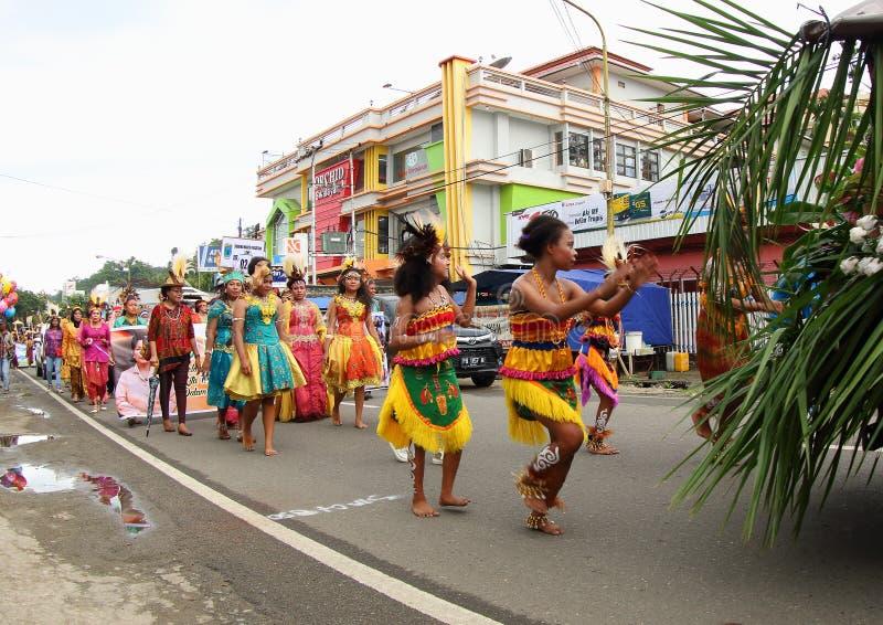 Kulturalny festiwal 2017, Zachodni Papua zdjęcie stock