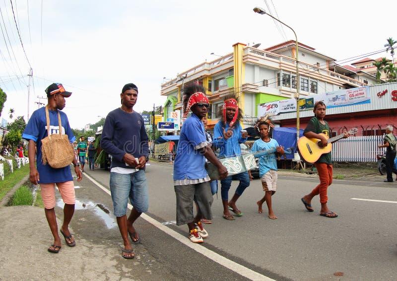 Kulturalny festiwal 2017, Zachodni Papua fotografia stock