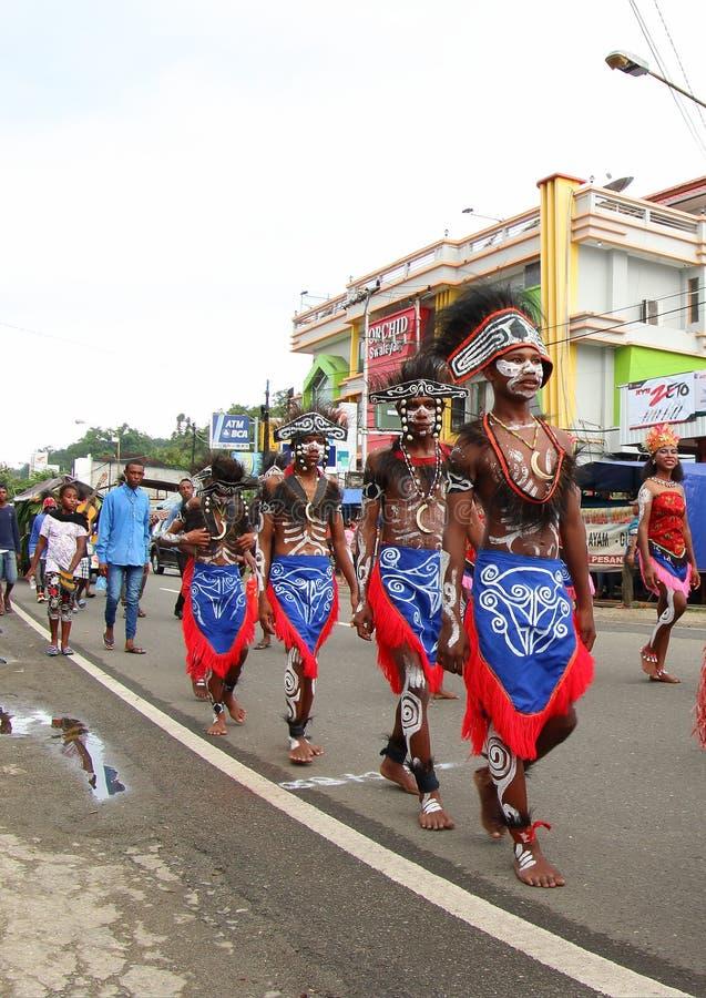 Kulturalny festiwal 2017, Zachodni Papua obrazy stock