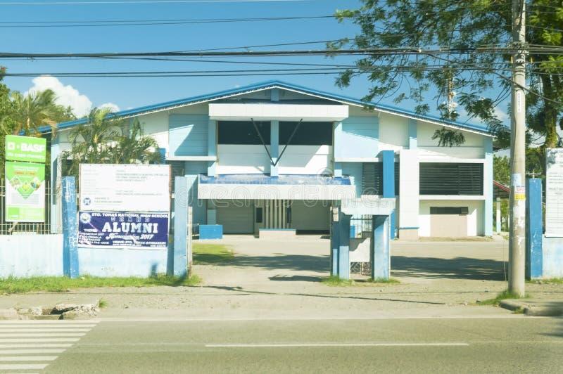 Kulturell och sportmitt av Santo Tomas Municipality, Santo To royaltyfria foton