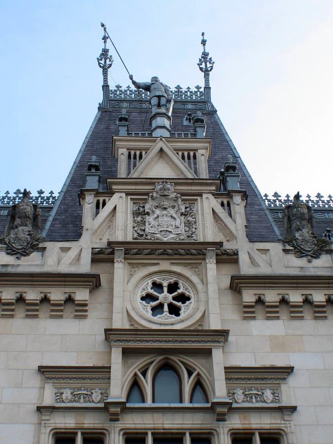 Kulturell slott från - detaljen royaltyfri bild