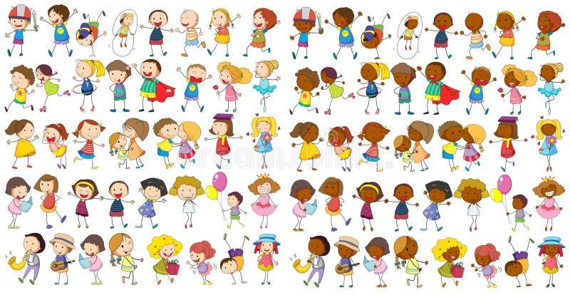 Kulturella barn stock illustrationer