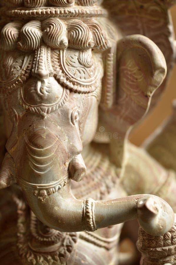 Kulturelle Kunst Ganesh Stone Asians stockfoto